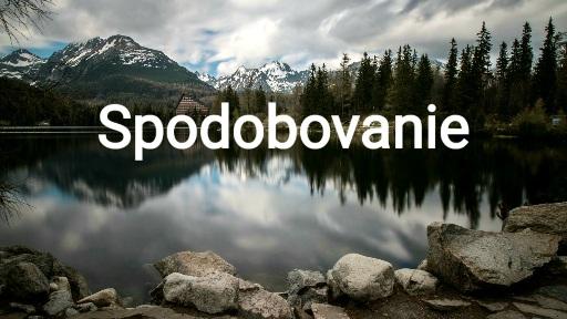Spodobovanie v slovenčine
