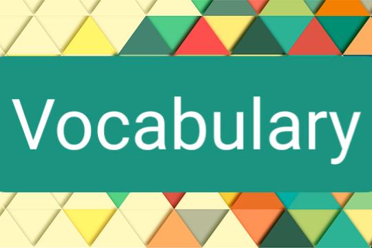 Help of Vocabulary Exercises